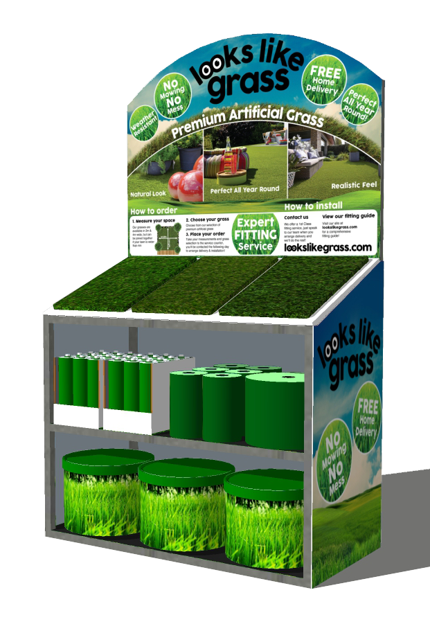 Looks Like Grass Retail Stand